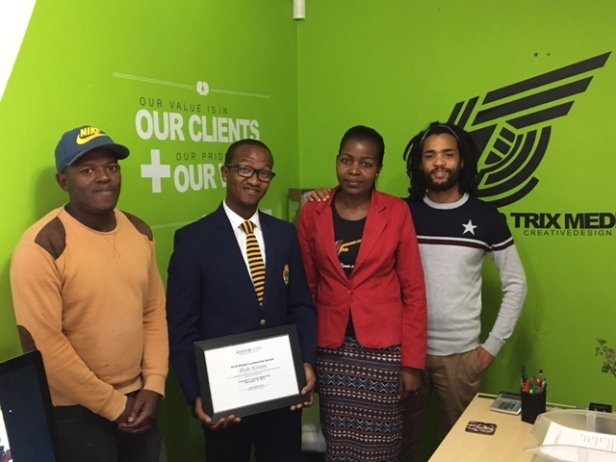 Bheki Kunene and his staff at MindTrix.